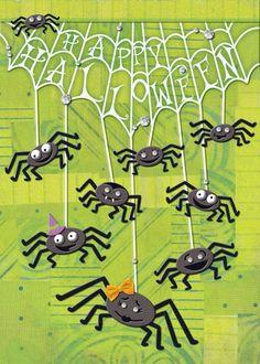 Hanging Spiders Greeting Card | DesignDesign, Inc.