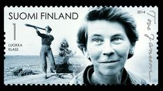 Finnish Post Office issues stamps in celebration of Tove Jansson's anniversary 2014 Tove Jansson, Art Studies, Stamp Collecting, Book Authors, Norway, Illustrators, Helsinki, Art Photography, Illustration Art