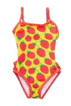 Strawberry Ruffle Swimsuit (Toddler Girls) - Marimekko