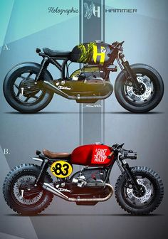 Neo-retro New-wave Vintage Custom Motorcycles & Culture Holographic Hammer BMW Custom Concept The post Neo-retro New-wave Vintage Custom Motorcycles & Culture appeared first on Motorrad. Bmw Cafe Racer, Moto Cafe, Cafe Bike, Retro Motorcycle, Cafe Racer Motorcycle, Motorcycle Design, Motorcycle Style, Bmw Scrambler, Bmw Boxer