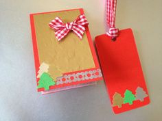 Set of matching gift tag and mini card by BoutousCreations on Etsy, $2.00