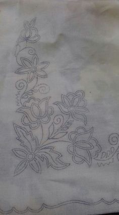 Beautiful Floral Pattern Design Element Old Stok İllüstrasyon 176567768 Border Embroidery Designs, Floral Embroidery Patterns, Hand Work Embroidery, Hand Embroidery Patterns, Ribbon Embroidery, Beaded Embroidery, Embroidery Stitches, Machine Embroidery, Broderie Simple