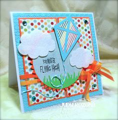 Kite Die set  clouds2cut Stamp and Die set
