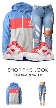 """""""Untitled #209"""" by trillest-qveen247 on Polyvore featuring adidas and NIKE"""