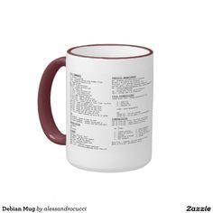 Taza de Debian Mugs, Tableware, Pictures, Dinnerware, Cups, Tumblers, Tumbler, Porcelain