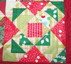 Christmas Quilt by peachga11 on Etsy, $75.00