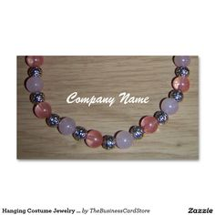 Hanging Costume Jewelry Display Standard Business Card