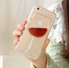 Phone Cases For Apple iPhone 4 SE 5 6 Plus Red Wine Cup Liquid Transparent Case Cover For iPhone 6 Cases Back Covers Iphone 6 Phone Cases, Iphone 7, Coque Iphone 6, Free Iphone, Phone Cover, Apple Iphone, Accessoires Iphone, Ipad, Wine Case