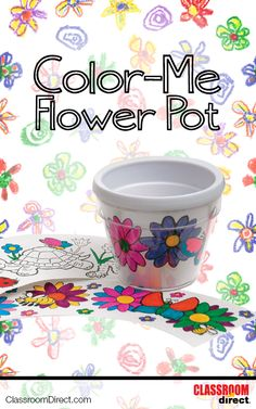 Design your own flower pot! Kit comes with 3 different pre-printed designs to color or great creative and make your own! Great for a spring lesson, plant unit, or a Mother's Day gift!