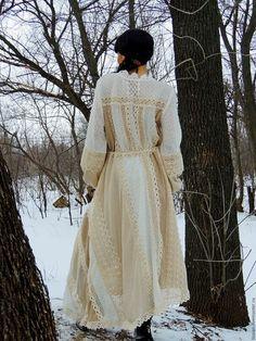 Платья ручной работы. Заказать Платье зимнее в стиле БОХО (№35). Лиза Ян. Бохо лавка.. Ярмарка Мастеров.