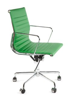 Green Mid-Century Executive Office Chair