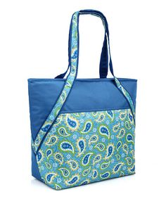 Take a look at this Blue Paisley Insulated Super Tote by Sachi on #zulily today!