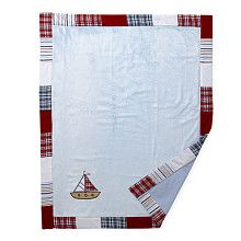 Bacati Boys Stripes and Plaids Soft Velour Blanket