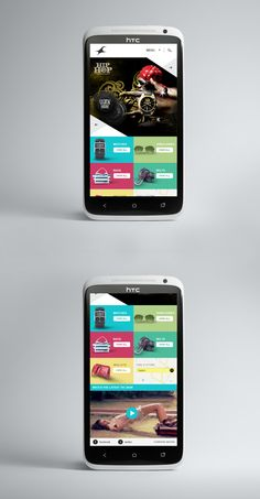 Fastrack Mobile Site by Tomae , via Behance