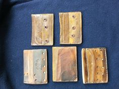 Baseball glove wallets by SchambeauLeather on Etsy, $80.00 @Mike Van Campen