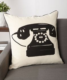 Look at this Old Charm Telephone Cushion on #zulily today!