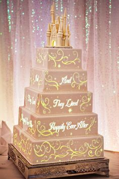 A whimsical fairytale wedding confection | Courtesy of DisneyWeddings.com