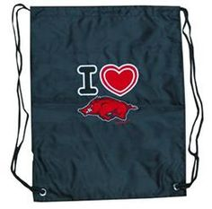 Arkansas Razorbacks Ladies Backsack Heart Hogs
