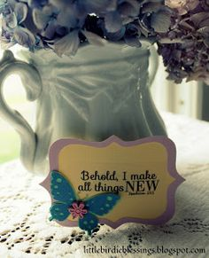 Behold I make all things New.  Revelation 21:5