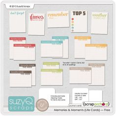 Project Life Journaling Cards Freebie