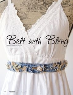 upcycled clothing projects upcycle project belt with bling see more. Black Bedroom Furniture Sets. Home Design Ideas