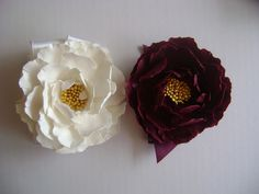 Some can have white. Others red.... Peony Wedding Wrist Corsage
