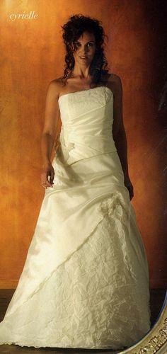 Lambert- creations  'Cyrielle' crushed organza design Wedding Dress Separates, French Wedding Dress, Lace Applique, Strapless Dress Formal, One Shoulder Wedding Dress