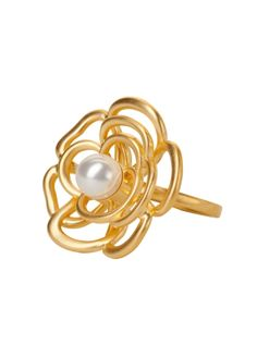 LONDON RING PEARL GOLD BP, GOLD BP FINISH SIZE 6  Click to enlarge    	  LONDON RING PEARL GOLD BP, GOLD BP FINISH SIZE 6