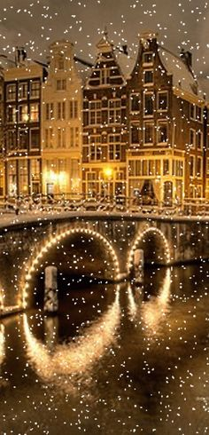A winter night in Amsterdam