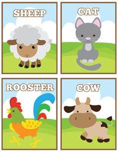 Farm Life Flash Cards