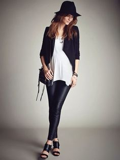 Bold black and white is on point for expecting mothers who are keeping their look fresh and fashionable!