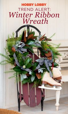 Use long-tailed black and white bows to add sophistication to a wreath of magnolia leaves, assorted greenery, and berries. Green Christmas, Christmas Wreaths, Christmas Crafts, Merry Christmas, Christmas Decorations, Decor Crafts, Diy Crafts, White Bows, Holiday Ideas