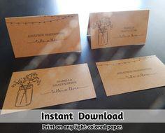 Hey, diesen tollen Etsy-Artikel fand ich bei https://www.etsy.com/de/listing/257401775/wedding-place-card-printable-placecard