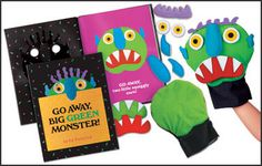 Go Away Big Green Monster found in: Go Away, Big Green Monster! Storytelling Puppet Kit, Go Away, Big Green Monster! By Ed Emberley, Kids will. Big Green Monster, Monster Go, Book Activities, Toddler Activities, Preschool Books, Language Activities, Teaching Resources, Album Jeunesse, Lakeshore Learning