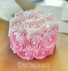 Ombre Rosette Cake by Frosting Fanatic - www.frostingfanatic.com