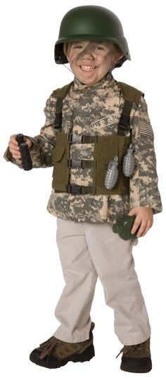little boys playing army | Boy's Army Ranger Costume Kit - Military Costumes for Child | Fierce ...