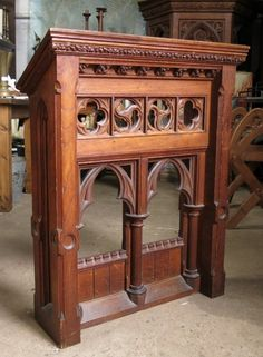 Croydon Gothic Oak Reading Desk - Top trade supplier of Antique Ecclesiastical Furnishings, furniture, fixtures and fittings in Great Britain. Croydon, Great Britain, Entryway Tables, Desk, Antiques, Reading, Top, Furniture, Home Decor