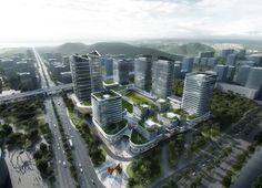 Aedas wins competition to develop vast hi-tech innovation park in China — Architecture For Future - Architecture Urbanism Interior Art Technology Office Building Architecture, Green Architecture, Concept Architecture, Futuristic Architecture, Amazing Architecture, Landscape Architecture, Building Design, Architecture Design, Architecture Diagrams