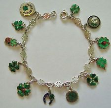 Lovely Old Piece! Dates to Around 1900 Antique Victorian Sterling Silver Enamel Lucky Clover Pendant
