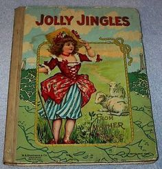 Old Antique Jolly Jingles from Mother Goose Book, Ca 1910 --- Clicking image takes you to Bonanza Listing