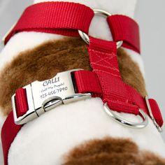 Adjustable Dog Harness No-Choke Personalized Pet ID by PupPanache