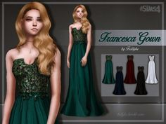 Francesca Gown at Trillyke � Sims 4 Updates