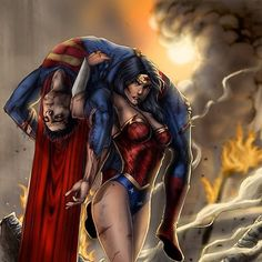 Every man needs his Wonder Woman when he's down Strong Girls, Strong Women, Wonder Woman Y Superman, Fit Couples, Fitness Couples, Dope Art, Marvel Vs, Real Women, Supergirl