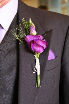 perfectly Purple Lissianthus Boutonniere