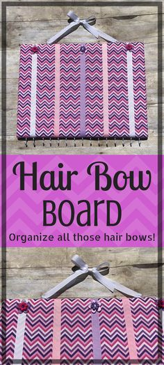 16b61b26c8197 This is an adorable way to keep that pile of hair bows organized and  accessible for your little girl!
