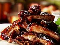 BBQ Ribs in Crockpot. 3 lbs. pork or beef ribs  1 C water 1/4 C cooking sherry 1 T Worcestershire sauce salt & pepper to taste 1/2 C barbecue sauce Place ribs standing upright in crock pot. Pour in sherry & water. Sprinkle w/Worcestershire sauce & salt & pepper. Pour barbecue sauce over ribs. Cook on low approximately 8 hours. Serve with additional barbecue sauce for dipping
