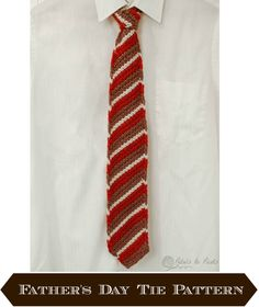 Isn't this Tunisian Crochet Tie sharp? Get the free pattern, by Kara, at Petals to Picots.