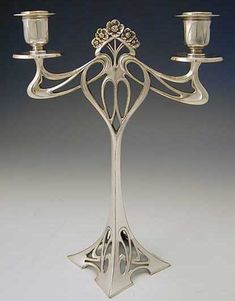 Art nouveau candle holder