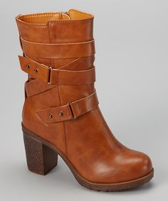 Look what I found on #zulily! Camel Sammi Ankle Boot by Bumper #zulilyfinds