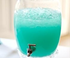 Teal & Mint / Tiffany Punch. Recipe: Blue Hawaiin Punch and Lemonade. Nice summer drink! If you add UV Blue vodka to this it is delicious. Tastes like a jolly rancher.